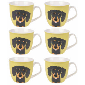 Cambridge COMBO-3049 Oxford Puppy Pal Daschund Fine China Mug, Set of 6 Thumbnail 7