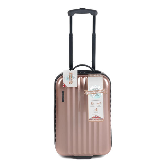 "Constellation Athena ABS Hard Shell Cabin Suitcase, 20"", Rose Gold"
