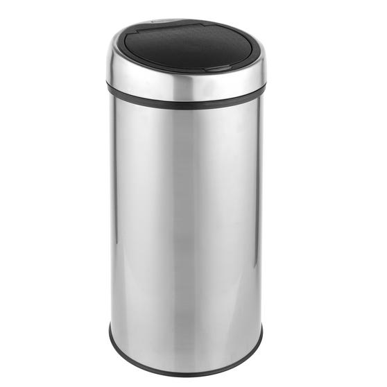 Russell Hobbs RH00141 Touch Lid Round Kitchen Household Bin, 30 Litre, Stainless Steel
