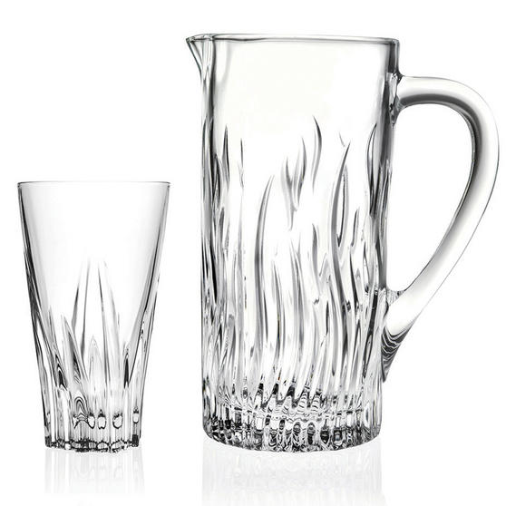 RCR 73261020006 Crystal Glassware Fluente Jug and Glasses Set, 7 Pieces