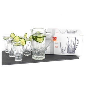 RCR 73261020006 Crystal Glassware Fluente Jug and Glasses Set, 7 Pieces Thumbnail 2