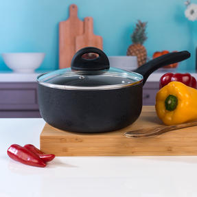 Beldray BW07016GP 4 Piece Non-Stick Pan Set with Frying Pan and Saucepans, Black Thumbnail 8