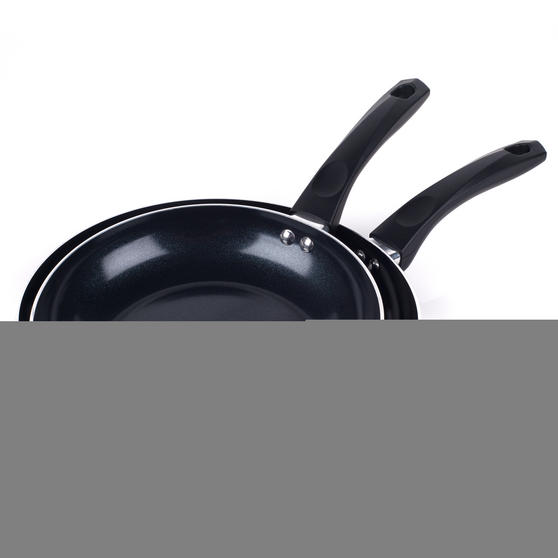 Beldray Two Ceramic Frying Pans, 20/28 cm, Black Thumbnail 8