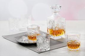 RCR Crystal Glassware Oasis Tumbler Glasses and Square 85CL Decanter Set, 7 Pieces Thumbnail 3