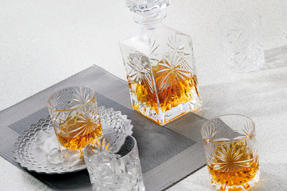 RCR Crystal Glassware Oasis Tumbler Glasses and Square 85CL Decanter Set, 7 Pieces Thumbnail 4
