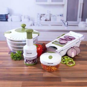 Salter Healthy Eating Food Preparation Set with Choppers, Mandolin and Salad Spinner Thumbnail 2