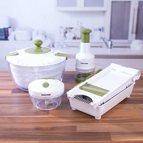 Salter Healthy Eating Food Preparation Set with Choppers, Mandolin and Salad Spinner Thumbnail 6