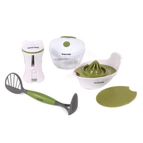 Salter Healthy Eating Food Preparation Starter Kit, Green/White Thumbnail 3