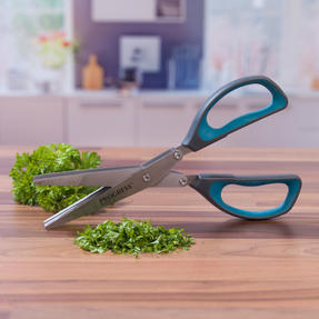 Progress COMBO-2295 Be Balanced 3 Blade Healthy Food Spiralizer with Herb Scissors, Purple/Teal Thumbnail 4