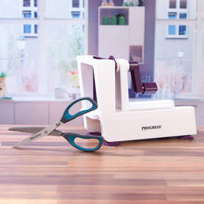 Progress COMBO-2295 Be Balanced 3 Blade Healthy Food Spiralizer with Herb Scissors, Purple/Teal Thumbnail 5