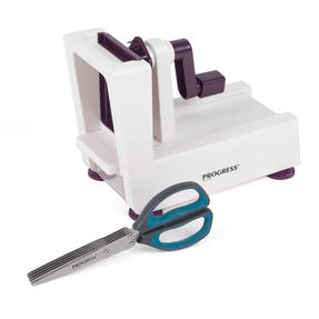 Progress COMBO-2295 Be Balanced 3 Blade Healthy Food Spiralizer with Herb Scissors, Purple/Teal Thumbnail 6