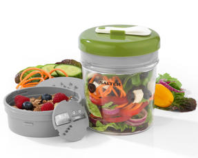 Salter Prep and Go Lunch Food Salad Meal Storage Pot, Set of 2 Thumbnail 2