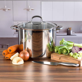 Russell Hobbs Saucepan Set with Stock Pot, 4 Piece, Stainless Steel Thumbnail 3