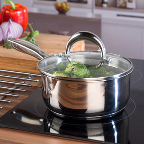 Russell Hobbs Saucepan Set with Stock Pot, 4 Piece, Stainless Steel Thumbnail 4