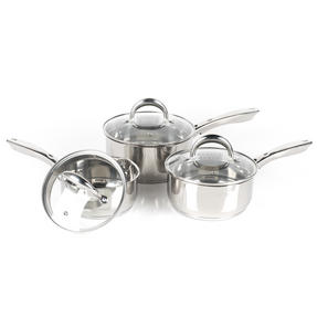 Russell Hobbs Saucepan Set with Stock Pot, 4 Piece, Stainless Steel Thumbnail 8