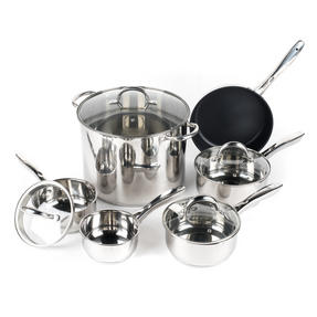 Russell Hobbs COMBO-2098 Saucepan Set with Stock Pot, 6 Piece, Stainless Steel