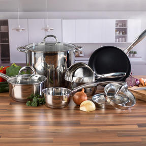 Russell Hobbs COMBO-2098 Saucepan Set with Stock Pot, 6 Piece, Stainless Steel Thumbnail 6
