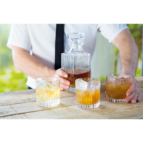 RCR COMBO-2188 Timeless Crystal Whisky Tumblers and Square Decanter, 7 Piece Thumbnail 2