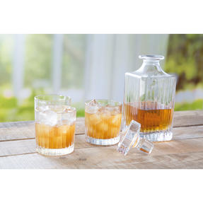RCR COMBO-2188 Timeless Crystal Whisky Tumblers and Square Decanter, 7 Piece Thumbnail 4