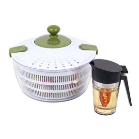 Salter COMBO-2236 Healthy Salad Spinner with Oil Dressing Infuser and Pourer Set