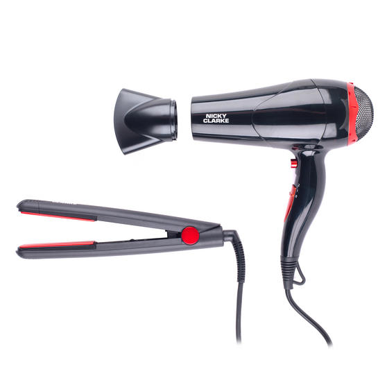 Nicky Clarke COMBO-3076 Classic Lightweight Hairdryer and 200°C Ceramic Straighteners