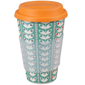 Cambridge COMBO-3080 Retro Daisy Travel Mugs Sippy Cups, Set of 2, Small/Large Thumbnail 4