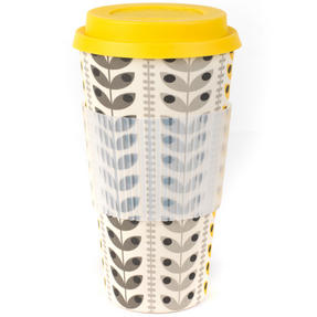 Cambridge COMBO-3080 Retro Daisy Travel Mugs Sippy Cups, Set of 2, Small/Large Thumbnail 5