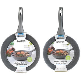 Salter COMBO-3124 Marble Collection Frying Pan Set with Pan Protectors, 24 / 28 cm Thumbnail 7