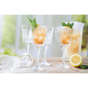 RCR COMBO-3122 Timeless Crystal Glassware Wine Glasses and Water Juice Cocktail Jug, 23 CL / 1.2 Litre Thumbnail 3