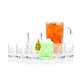 RCR COMBO-3123 Timeless Crystal Glassware Short Whisky Tumblers, Mixing Glass and Cocktail Jug, 8 Piece Set Thumbnail 3