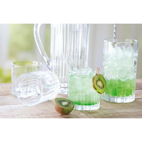 RCR COMBO-3123 Timeless Crystal Glassware Short Whisky Tumblers, Mixing Glass and Cocktail Jug, 8 Piece Set Thumbnail 5