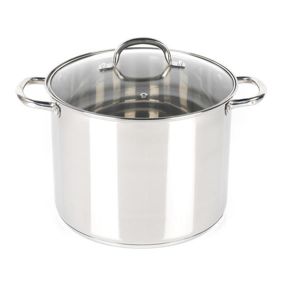 Russell Hobbs RH00174  Stock Pot with Glass Lid, Induction Safe, 28 CM / 13.5 L