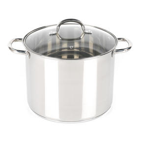Russell Hobbs RH00174  Stock Pot with Glass Lid, Induction Safe, 28 CM / 13.5 L Thumbnail 1