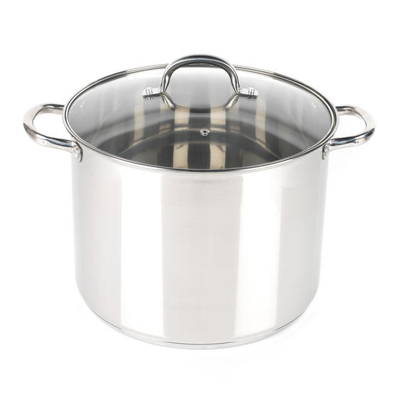 Russell Hobbs RH00175  Stock Pot with Glass Lid, Induction Safe, 30 CM / 16 L
