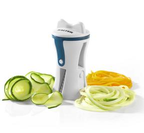 Salter Handheld Healthy Fruit and Vegetable Spiralizer, Blue