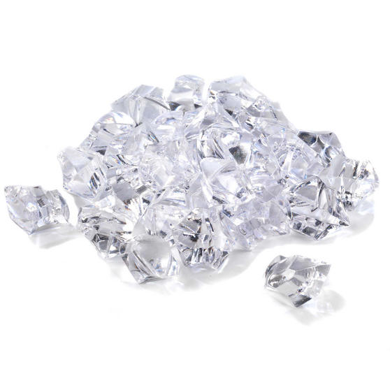 Beldray EH1050BQ Replacement Electric Fireplace and Wall Fire Decorative Pieces, 500g, Clear Crystal