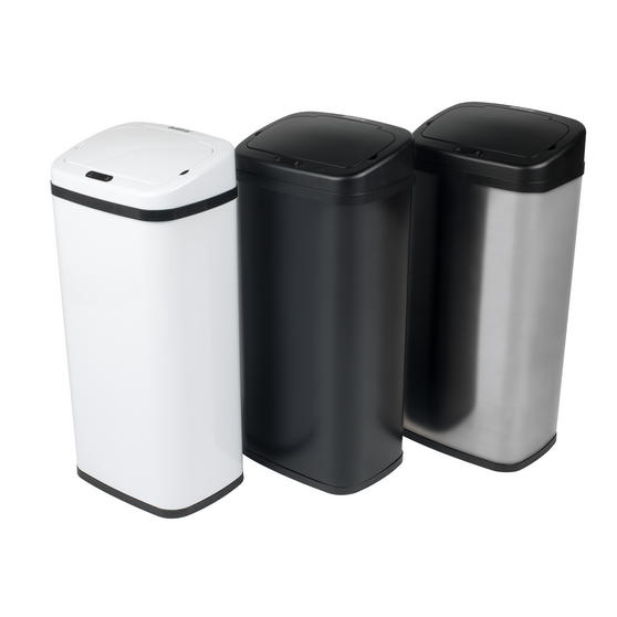 Beldray Square Sensor Bin, 40 Litre, Black Thumbnail 4