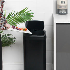 Beldray BW07020GP Square Sensor Bin, 40 Litre, Black Thumbnail 7