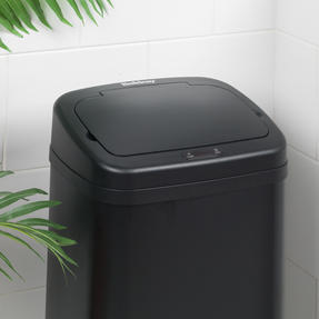 Beldray BW07020GP Square Sensor Bin, 40 Litre, Black Thumbnail 10