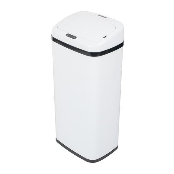 Beldray Square Sensor Bin, 40 Litre White Thumbnail 1