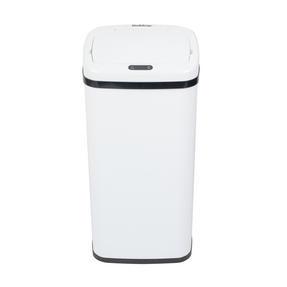Beldray BW07020WGP Square Sensor Bin, 40 Litre White Thumbnail 2