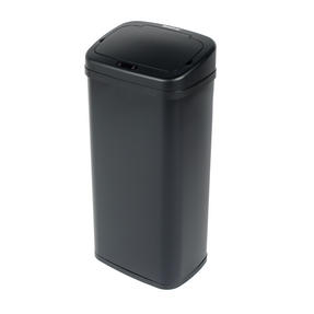 Beldray BW07021GP Square Sensor Bin, 50 Litre, Black Thumbnail 1