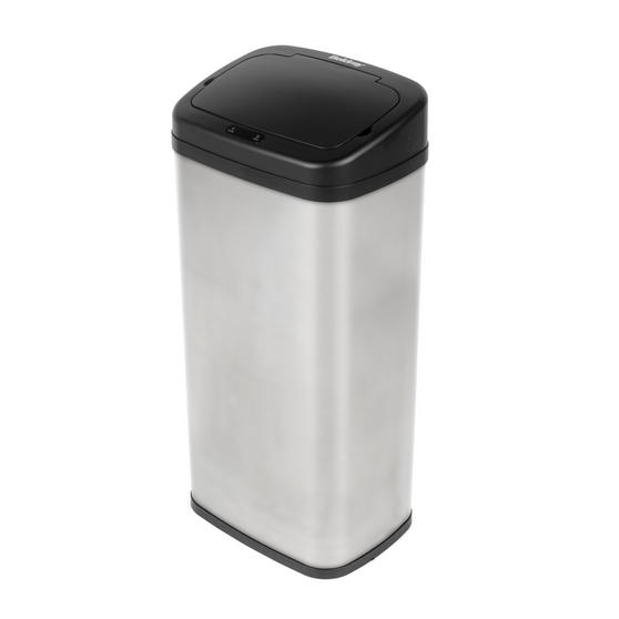 Beldray Square Sensor Bin, 50 Litre, Stainless Steel