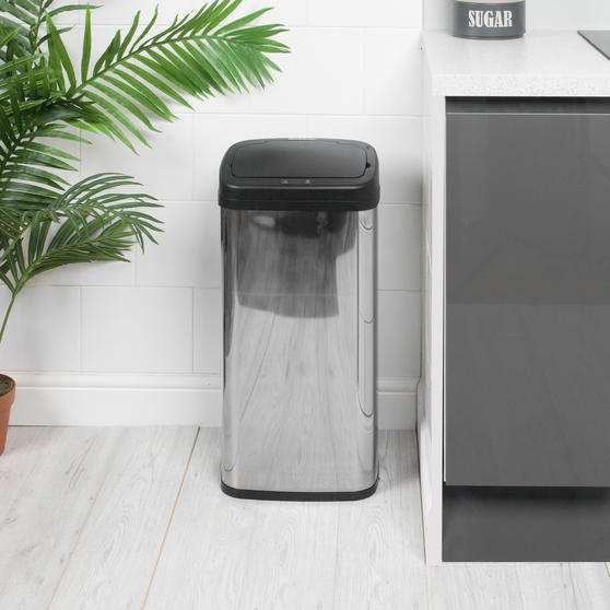 Beldray Square Sensor Bin, 50 Litre, Stainless Steel Thumbnail 6