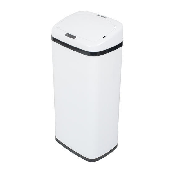 Beldray Square Sensor Bin, 50 Litre, White Thumbnail 1