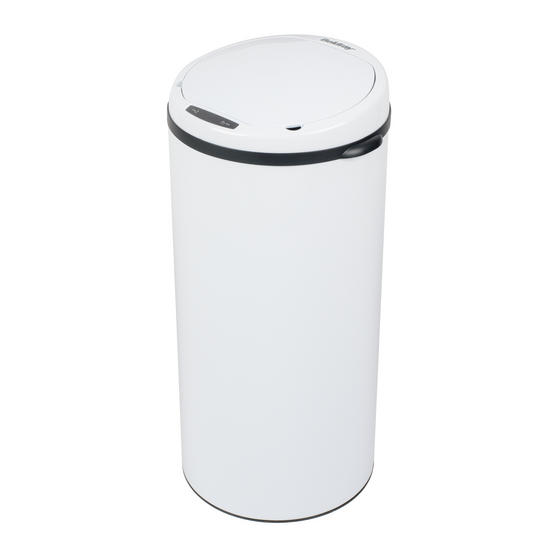 Beldray Round Sensor Bin, 40 Litre, White Thumbnail 1