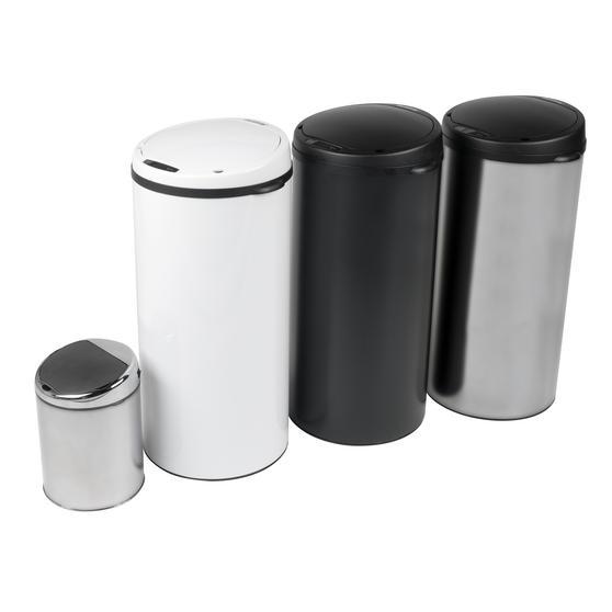 Beldray Round Sensor Bin, 40 Litre, White Thumbnail 4