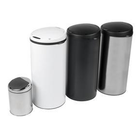 Beldray BW07022WGP Round Sensor Bin, 40 Litre, White Thumbnail 4