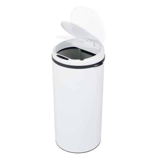 Beldray Round Sensor Bin, 50 Litre, White Thumbnail 2