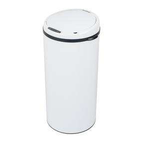 Beldray BW07023WGP Round Sensor Bin, 50 Litre, White Thumbnail 1